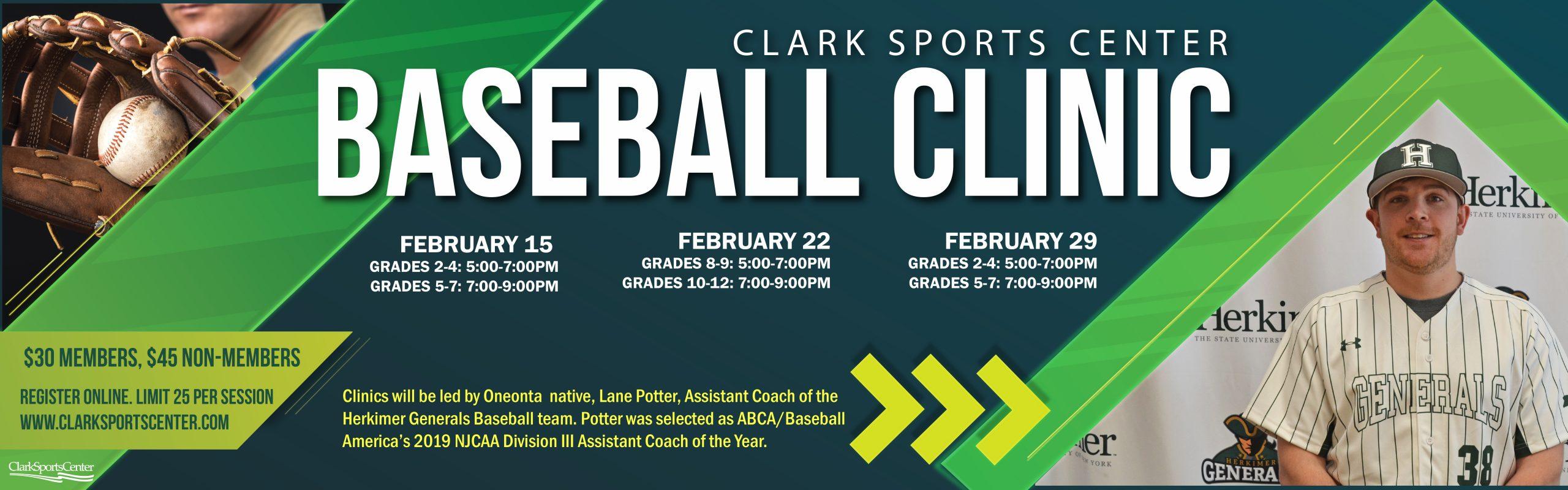 New! February Baseball Clinics