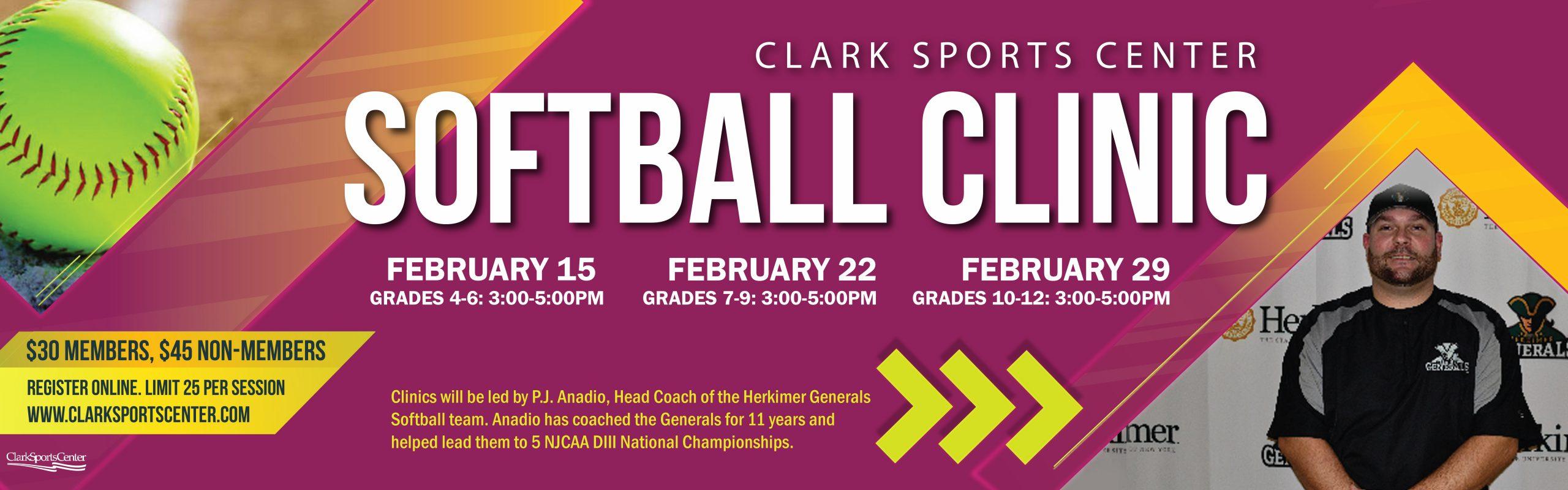 New! February Softball Clinics