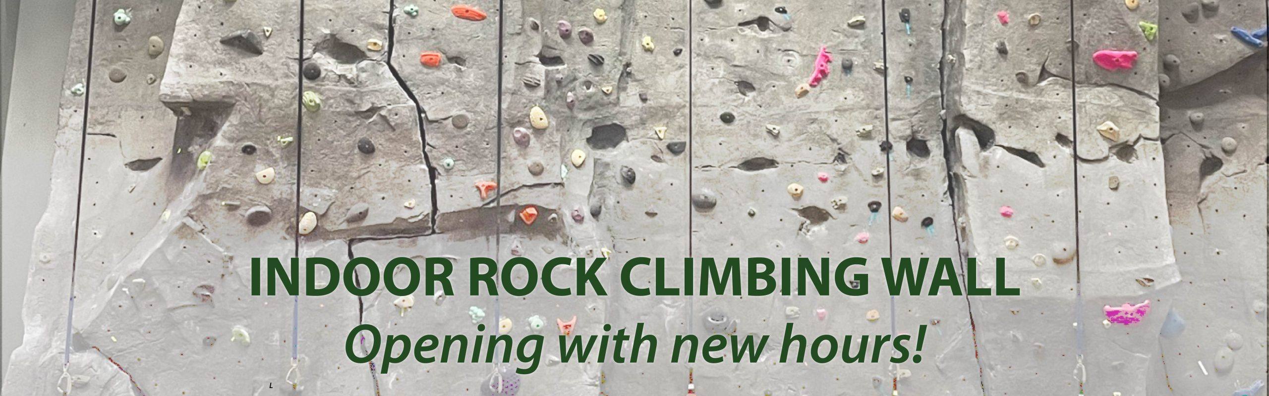 Rock Climbing Wall Open With New Hours!